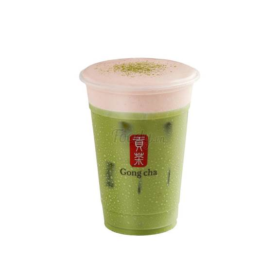 Matcha Strawberry Milk Tea GONG CHA